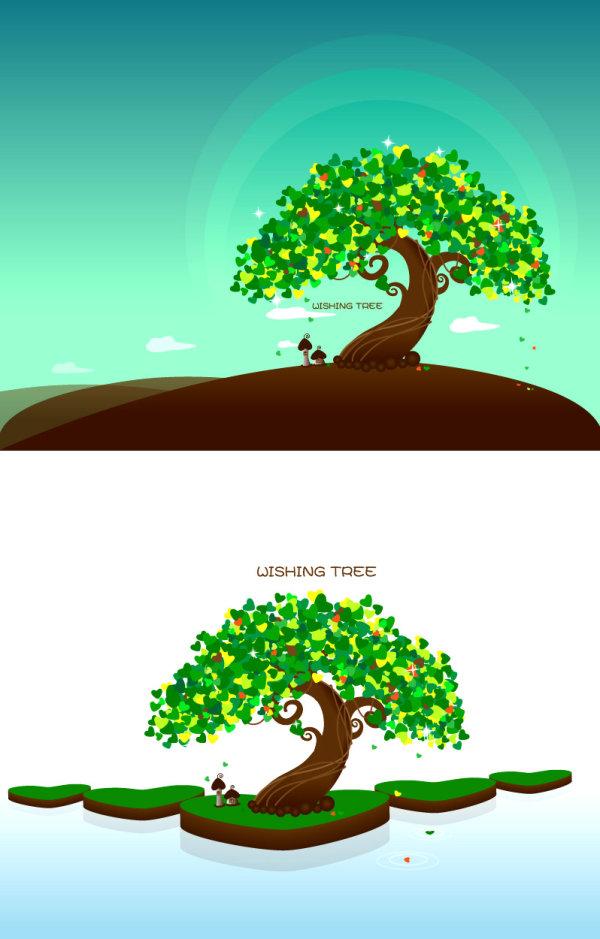 वृक्ष वेक्टर माल की इच्छा