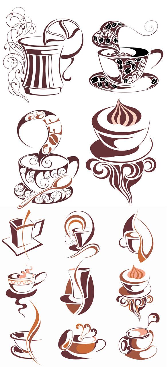Matériau de vecteur de café icône