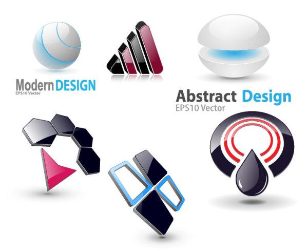 Icône de graphismes 3D de vecteur 6