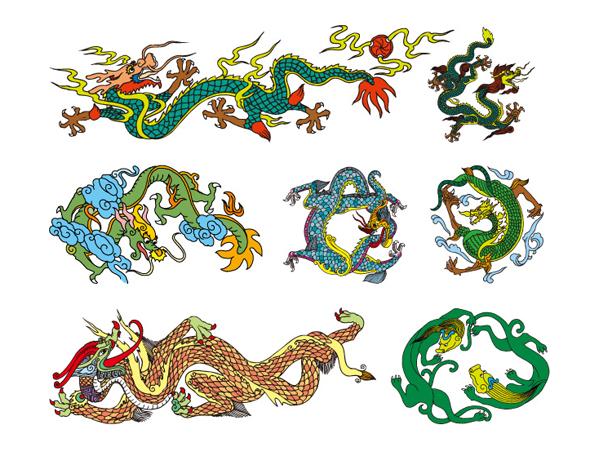 Chinesische klassische Dragon Vector von zehn