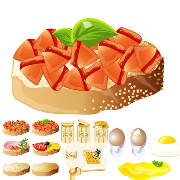 Riche et délicieux aliments) (vecteur de matériau