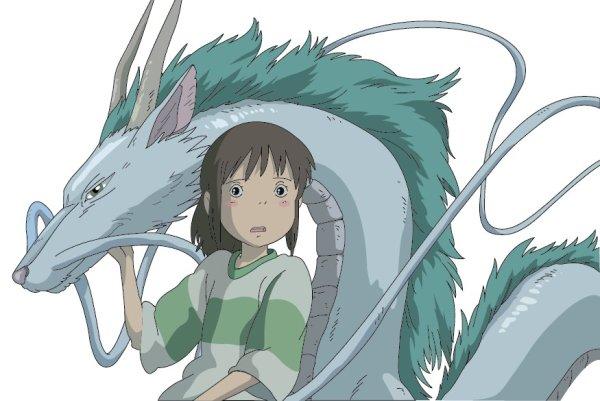 Souris peint avec le White Dragon vecteur Chihiro