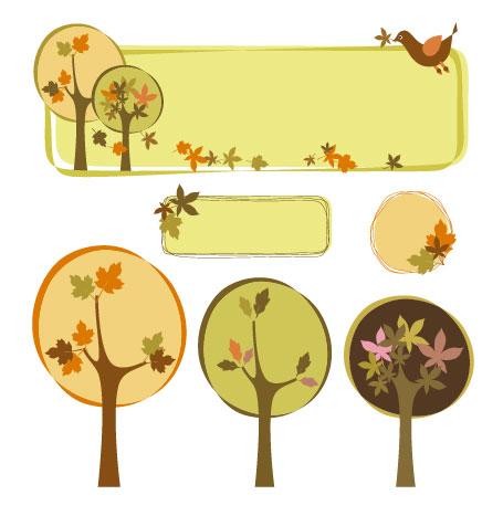 Vektor Baum Thema Dekoration Feld