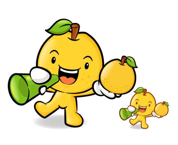 Material de vectores de fruta Super amor dibujos animados 2