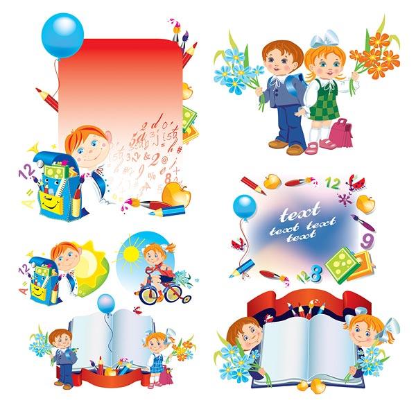 Palabras clave de niños, niños de globos de papel lápiz pincel ...