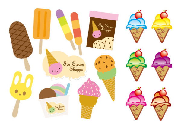 Vektor hübsch Ice cream