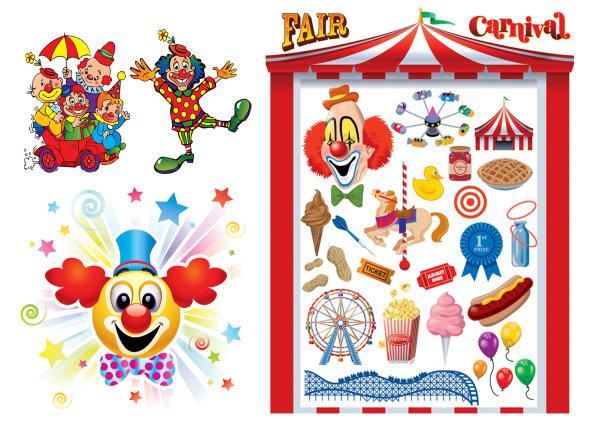 Le vecteur clown & Carnaval de matériel