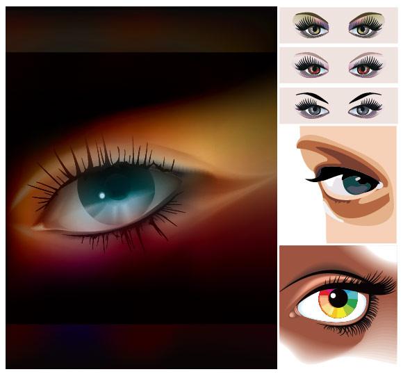 Óculos feminino Vector