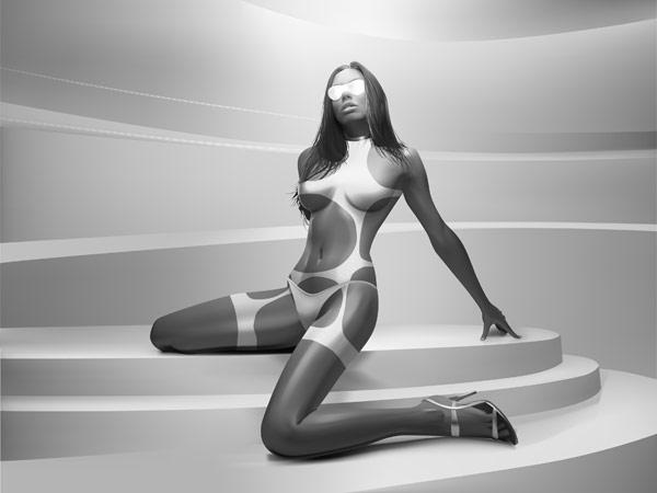 Mujer realista vector