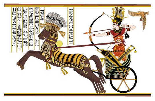 Ramsés II, la batalla de piedra Vector Diego tarjeta
