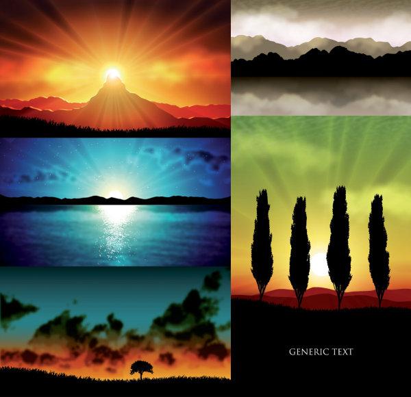 5 Vector paisaje realista