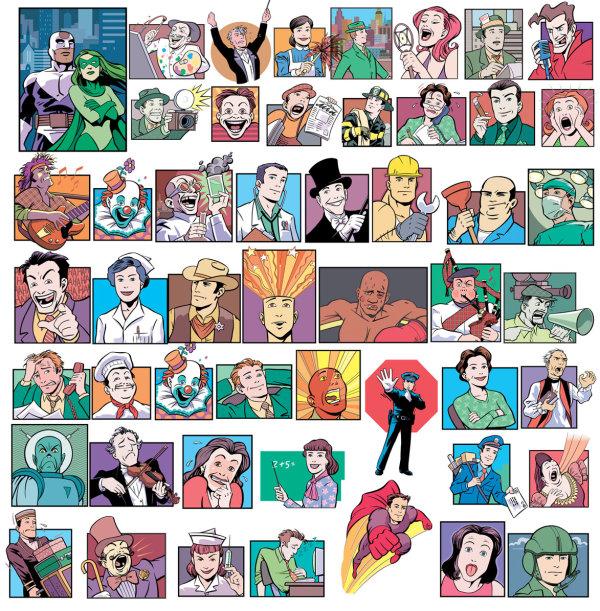 ベクターの漫画のキャラクター