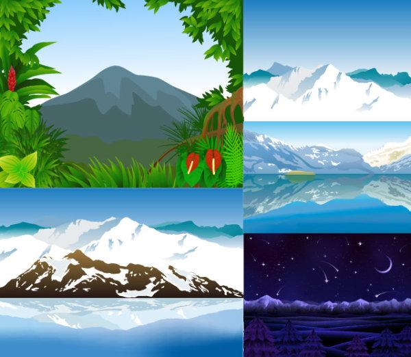 Montagnes de vecteur