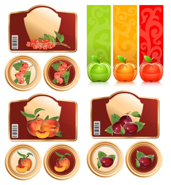 Obst und Vektorgrafiken
