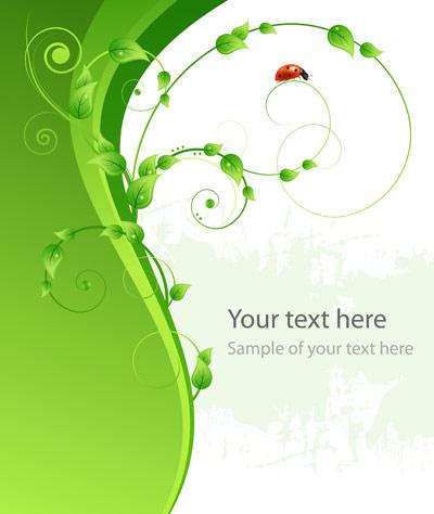 ベクトルてんとう虫緑