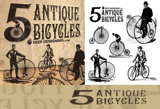 ベクトル古いヨーロッパ自転車