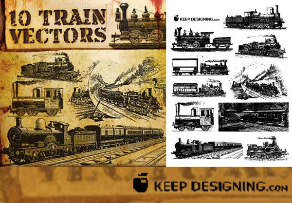 Vektor alten europäischen Zug