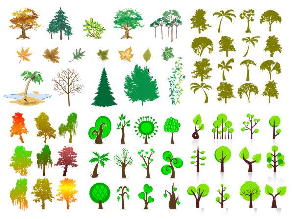 Вектор деревья серии