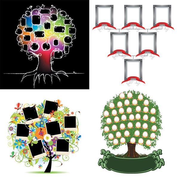 4 Специальный дерево векторного материала