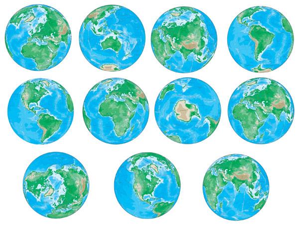 Vector มุมต่าง ๆ ของโลก