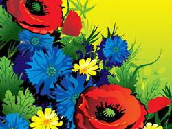ดอกไม้แสนสวยเวกเตอร์ของวัสดุ