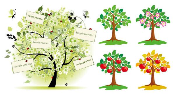 Vektor-Illustration der Bäume