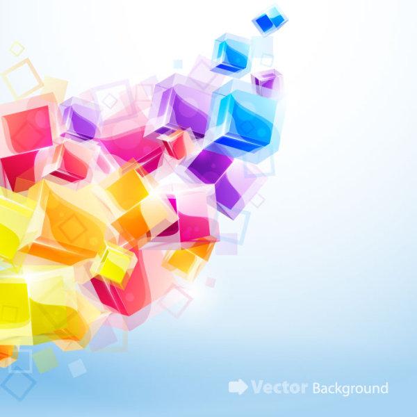 Mapa 3D brilhante de efeitos tridimensionais dinâmicos 03