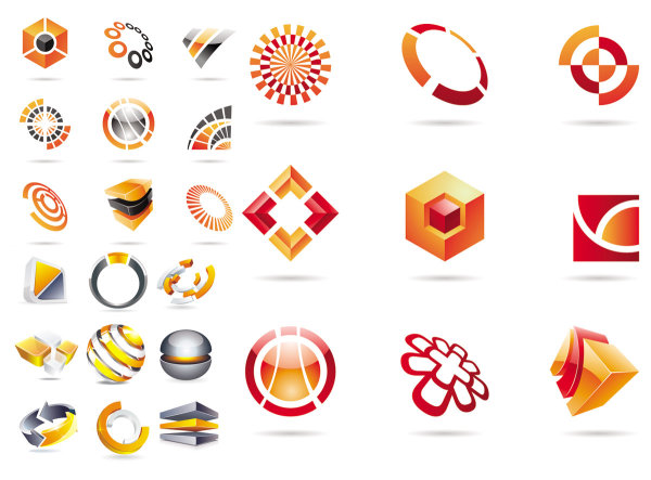 Symboles tridimensionnels - vecteur