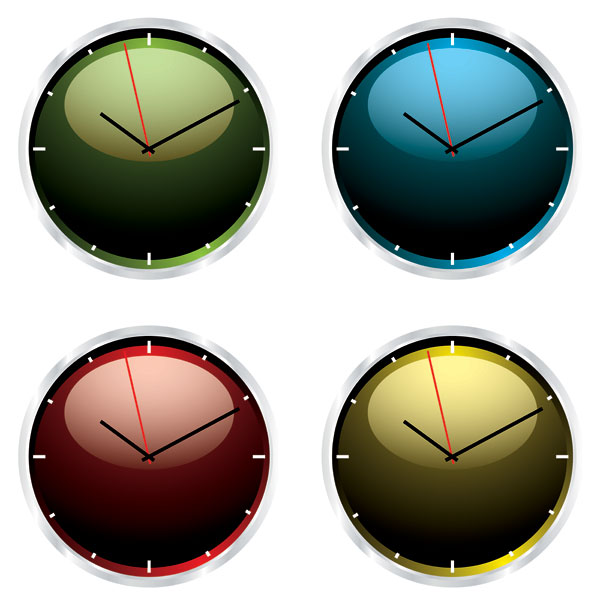 Vetor de relógio de cristal