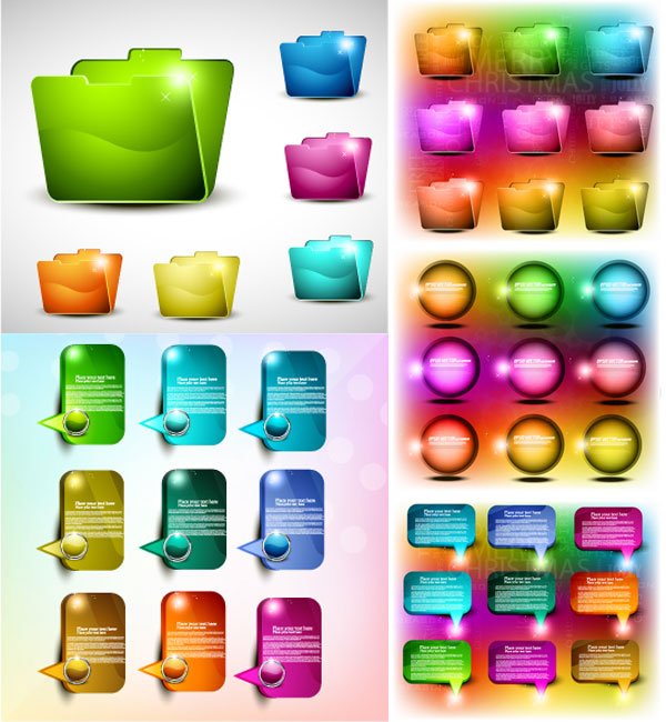 Éléments de conception web coloré vecteur