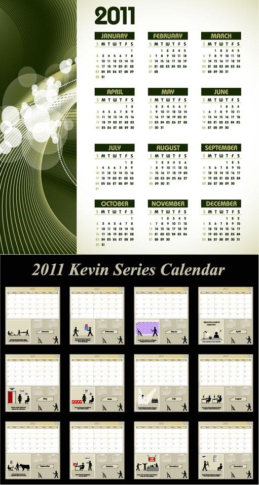 Les deux vecteurs calendrier 2010