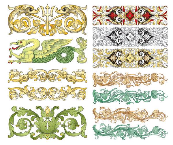 Patrones clásicos chinos vector