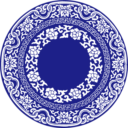 Векторные синий и белый фарфор