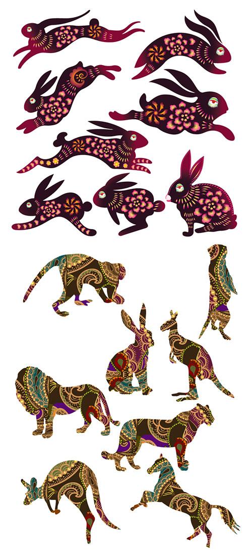 เวกเตอร์กระต่ายและสัตว์อื่น ๆ