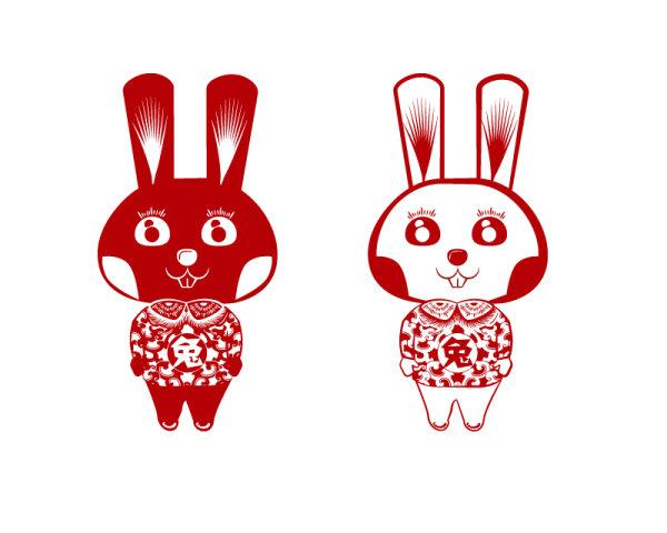 Corte de vector de conejo conejo