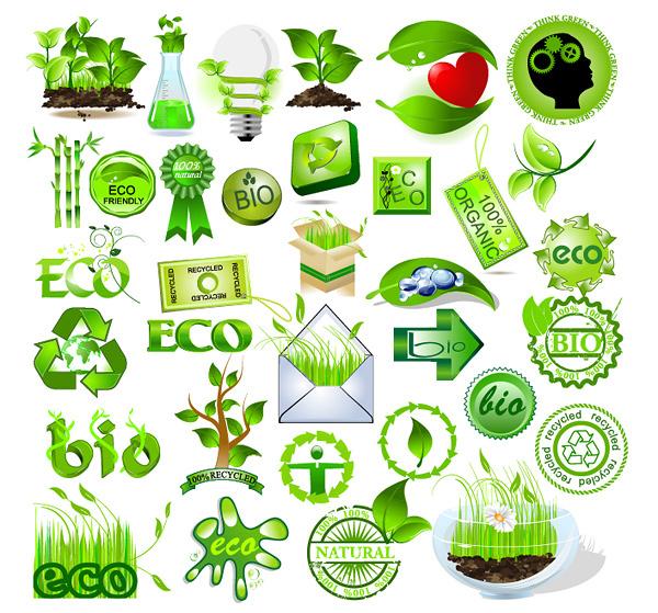 Material de vetor de elemento verde