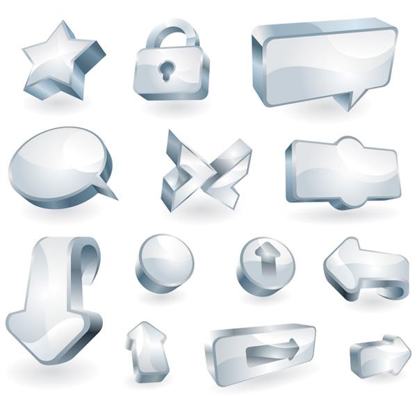 Значок чистого стекла векторного материала текстуры