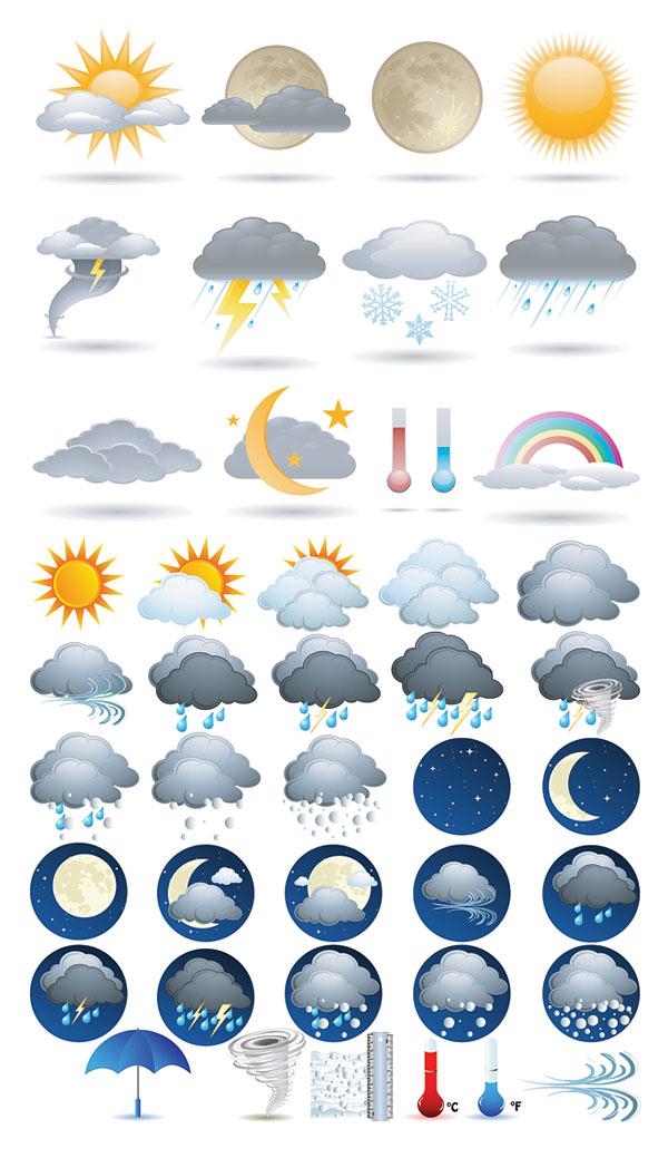 Matériau de vecteur icône météo