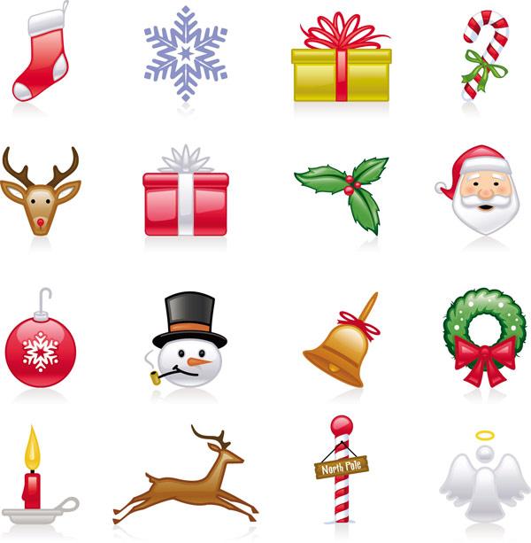 Natal ícones - Vector