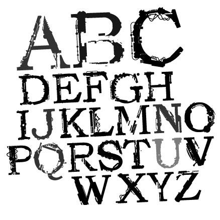 不完全な文字ベクトルのテーマ