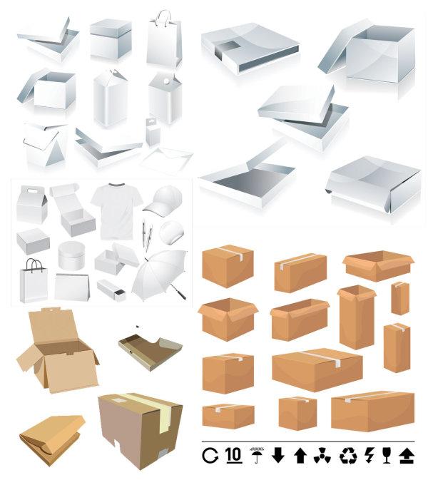 Boîtes et cartouches Templates - vecteur