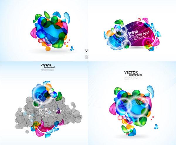 Éléments de couleurs éclatantes - vecteur
