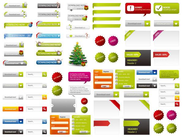 Éléments de conception de page Web 02--vectorielles matériel