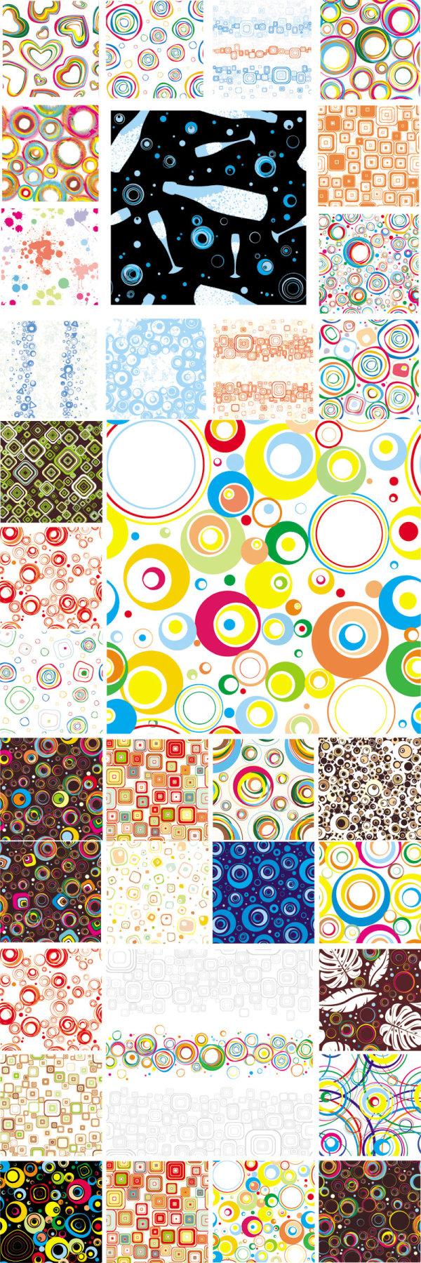 Variété colorée de la conception graphique - matériel de vecteur