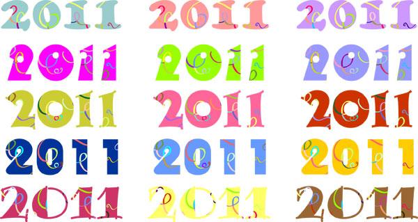 2011 цифровых векторных материалов