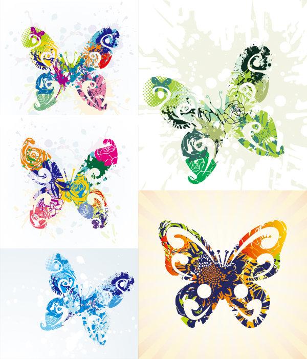 Schöne Schmetterling - Vektor