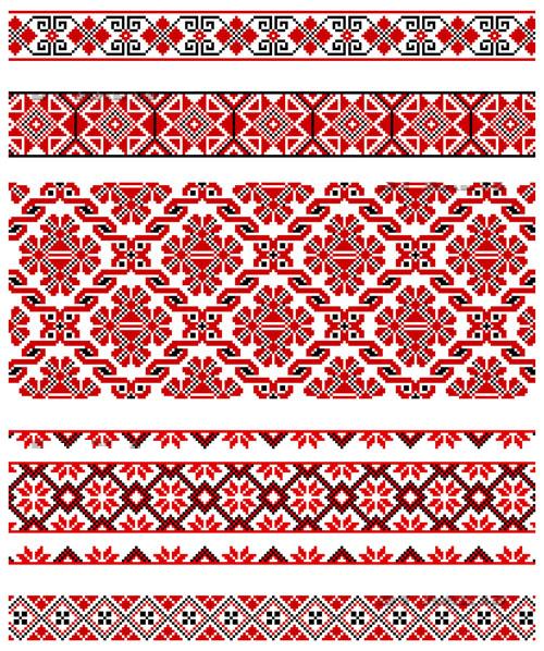 아름 다운 의상 패턴 02-벡터