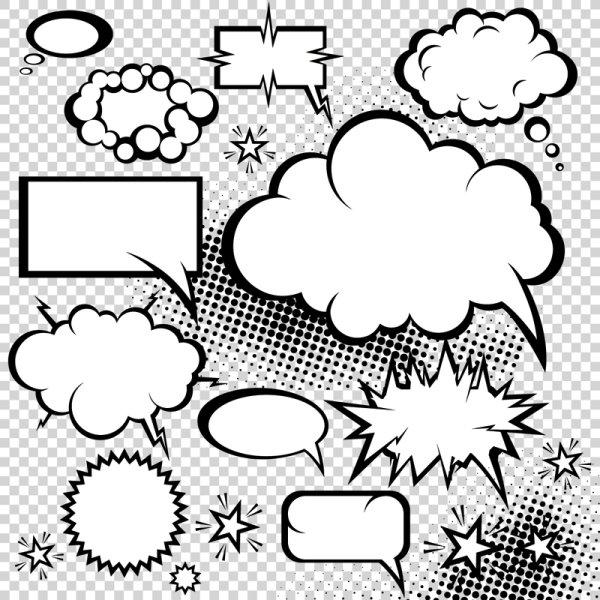 Matériau vecteur de style cartoon champignon de dialogue 05--