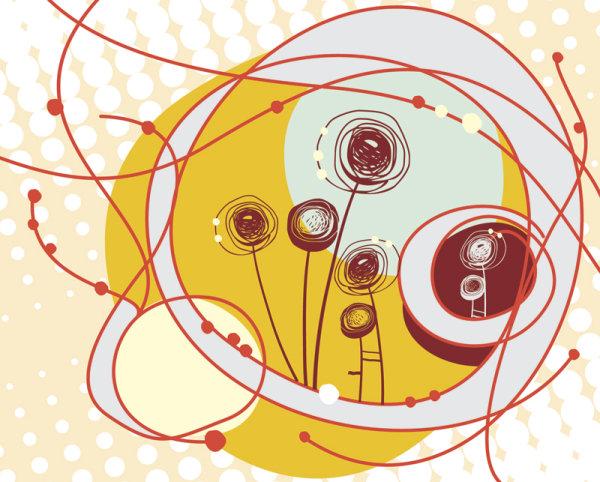 Bellas ilustraciones de niños 04 - Vector