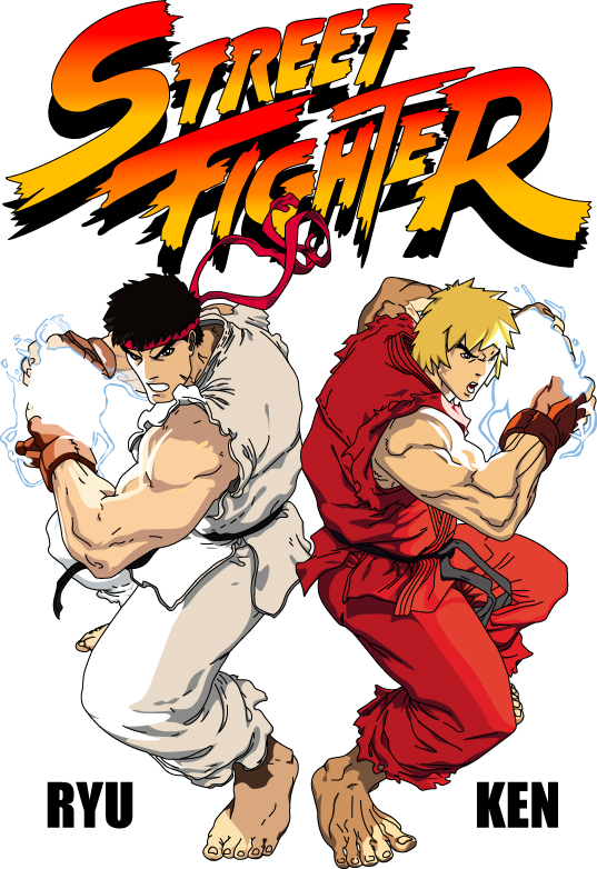 Archivo de origen de vector de Street Fighter